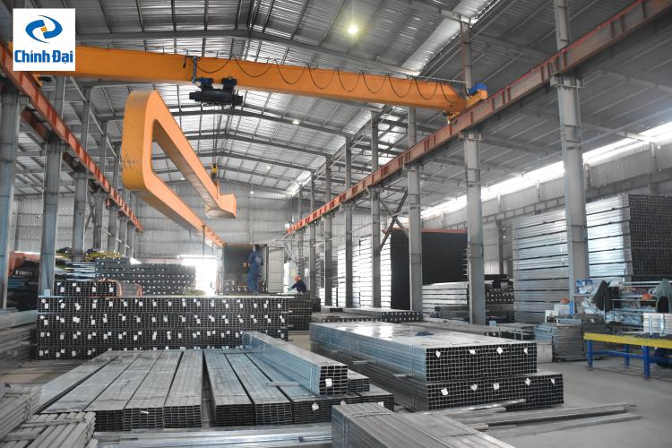 sản phẩm thép tại nhà máy thép Chính Đại